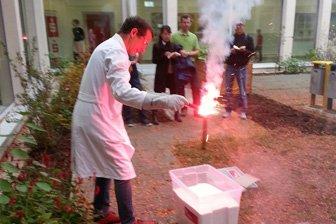 PyroBubbles® kamen groß raus am Erlangener Gymnasium